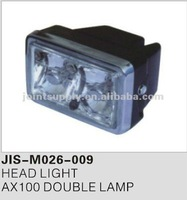 Motorcycle spare parts and accessories motorcycle head light for AX100 DOUBLE LAMP