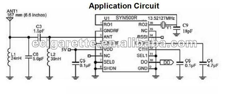 433 мГц приемник IC SYN500R