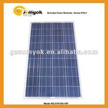 high quality polycrystalline solar panel 100W