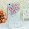 In 2012 light pink Rabbit transparent phone case rhinestone cell phone cover