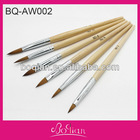 original wooden handle kolionsky acrylic nail art brush
