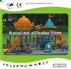 Small Classical Castle, Amusement Park Outdoor Playground for 15-30 Children with Three Slides, Climbers, Nets and PVC coated