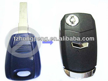 fiat one button black modified flip key cover
