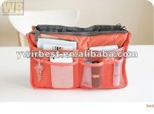 2012 HOT SALE high quality fashion bag in bag handbag organizer(WOB31 red)