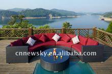 outdoor garden furniture synthetic wicker sectional sofa
