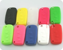 hot sale high quality blank key ,key cover for 3 buttons remote key Silicon Rubber bag (10 sets )