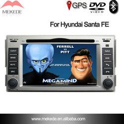 double din car dvd player for hundai Santa fe/GPS/SWC/BT/Ipod