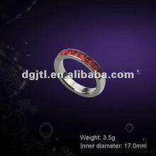 Fashion metal gold ruby finger rings