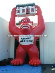 inflatable animal moscot gorila advertising slogan logo
