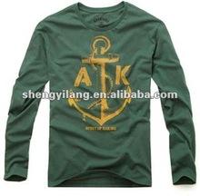 2012 new men's clothing long sleeve cotton t-shirt