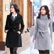 D94333T winter korean slim trench coat for women