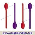 estándar de la fda 12 pulgada de largo de silicona cuchara de sopa