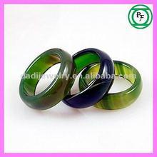2013 popular green natural agate rings