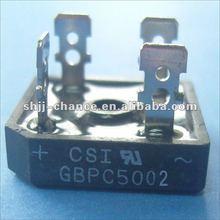 GBPC5002 200 volt Series Single-phase Silicon Bridge Rectifier Diode