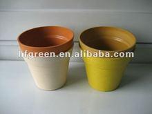 biodegradable eco bamboo fiber plant pot wholesale