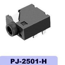 2.6mm phone jack PJ-2501-H,female,dip,5 pin