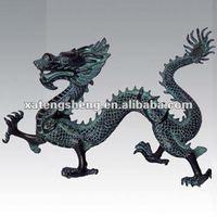 Bronze Chinese Dragon Statue