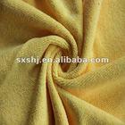 100% Polyester Yellow Terry Fleece Fabric