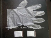PE gloves packed one pair in one pouch