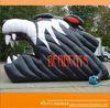 Novel inflatable black wolves helmet