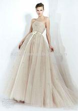 Mature 2012 sweathert champange tull birdesmaid dress