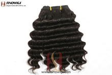 Fashion natural curl dark color Brazilian remy hair weft