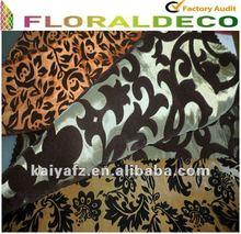 Random Flower Flocked Curtain Fabric