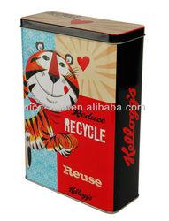 Cat and Dog Food Tin Box metal tin pet food container