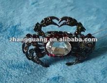Fashion new design alloy big diamond stretch crab ring