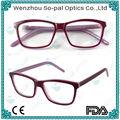 2014 novo estilo placa de acetato de óculos optik