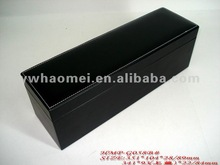 single pu leather wine box with magnet