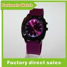 2012 New flashing light silicone watch
