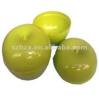 lifelike PP plastic green apple fresh storage container
