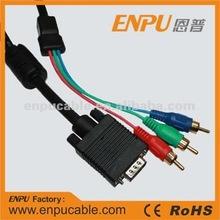 HD 15 M / 3 RCA VGA cable