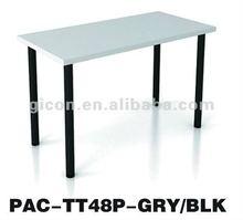 Melamine simple study desk PAC-TT48P-GRY/BLK