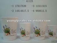 Handmade Modern Ceramic Flower Pots with stripe