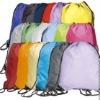 (factory sell)polyester bag or nylon drawstring backpack