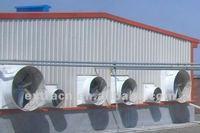 Fiberglass fan in pig farm