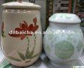 De chá de porcelana vasilha
