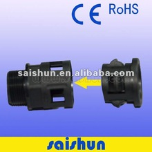 CE ROHS PAHS Waterproof black flexible conduit connector