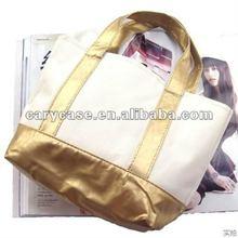 PU leather fashion lady handbag, strong canvas shoulder bag
