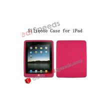 Hot Selling Plain Silicone Case for iPad / Silicone Cover for iPad (Red)
