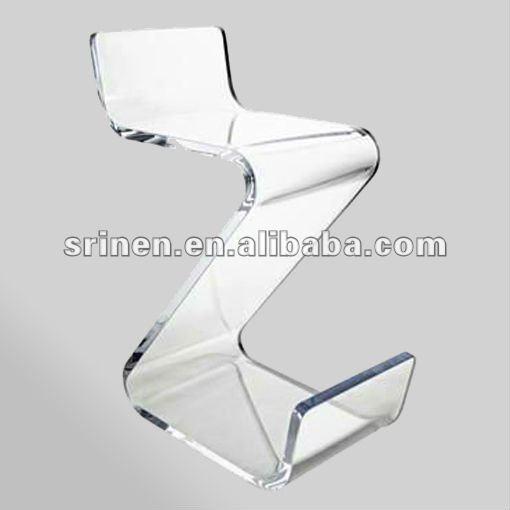 Acryl stuhl zig zag lucite z form plexiglas stuhl for Barhocker plexiglas