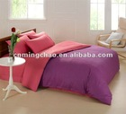 double side solid color bed in a bag 4 piece bedding set