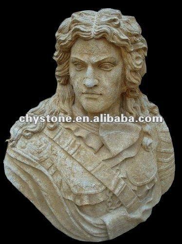 romano tallado de mármol famosa escultura de busto