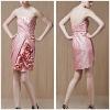 Elegant Pink Strapless Low Back Sweetheart Short Cocktail Dress