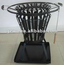 Cast iron chimeneas for fire basket-LF04-BLACK
