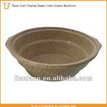 6.0QT Porcelain Fantasy Brown Oval Ceramic pot for slow cooker