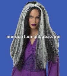 Fashion vamp wig black adult vamp wig halloween wig