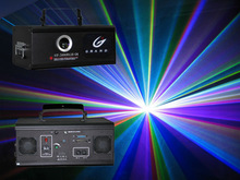 2W multi color animation PC controlled christmas stage laser light